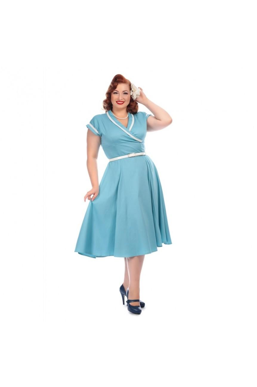 robe annee 50 bleue