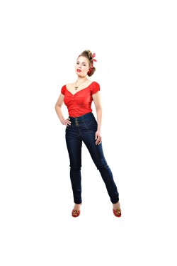 Jean rockabilly taille haute collectif