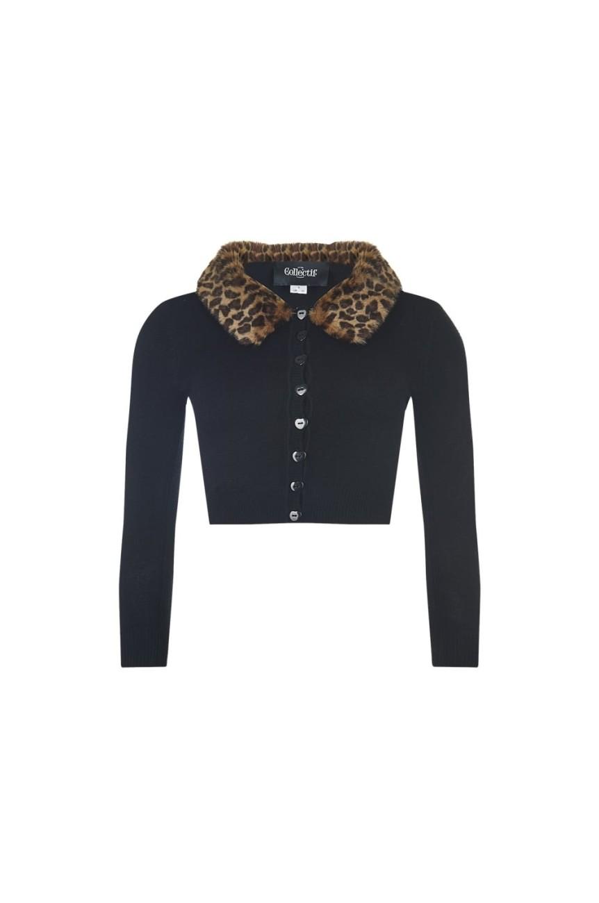 Cardigan rockabilly léopard