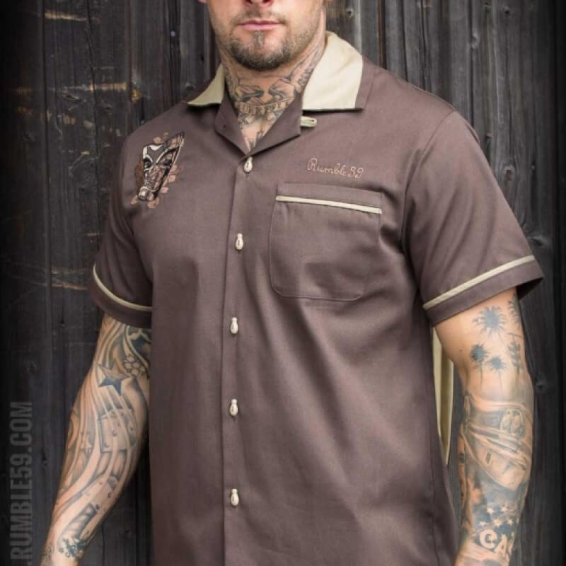 Garage Chemise Chemise Woodie Bowling Rumble59 WDH92IEY