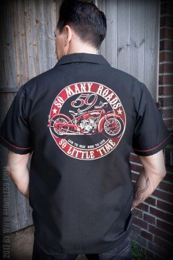 Chemise bowling rumble59 moto