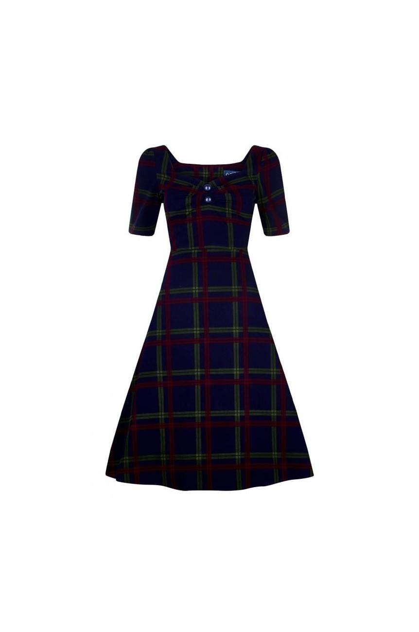 Robe ecossais vintage