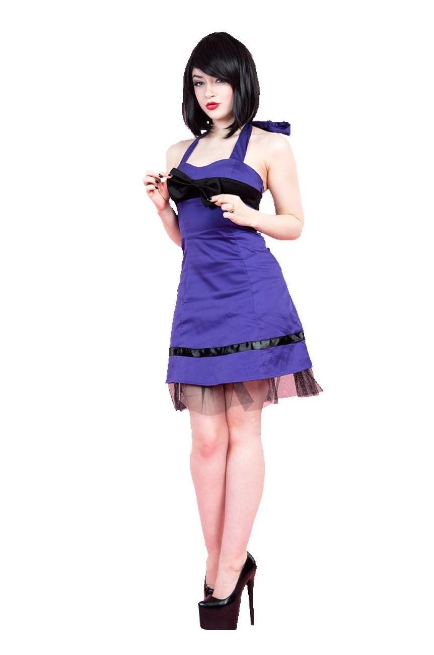 Robe courte rock violette
