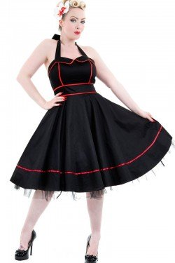 Robe sailor rockabilly noire