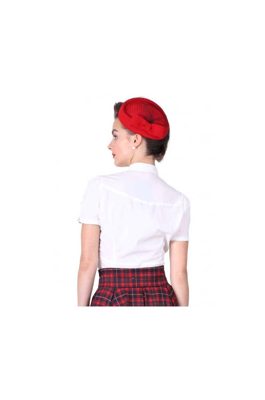 Chapeau pin up collectif vintage rouge
