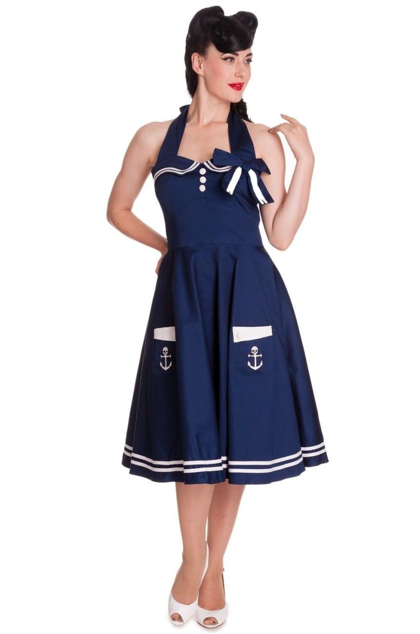 Robe hell bunny motley 50'S bleue