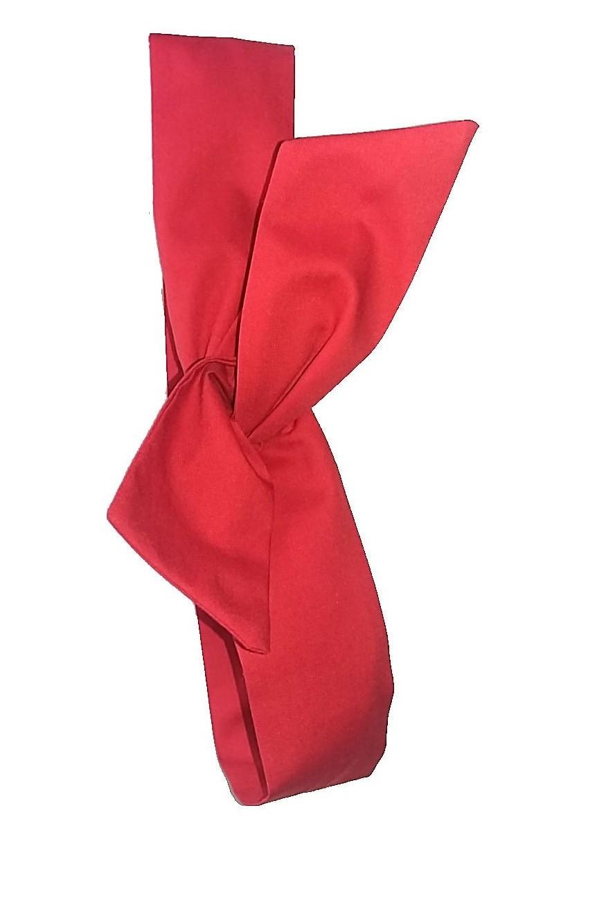 Bandeau cheveux rouge