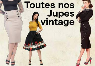 Jupes vintage et rétro pin-up