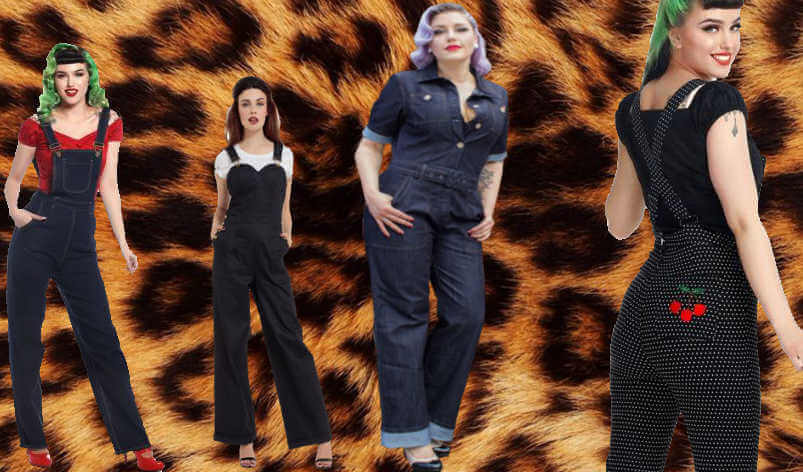 Combinaisons et salopettes rockabilly